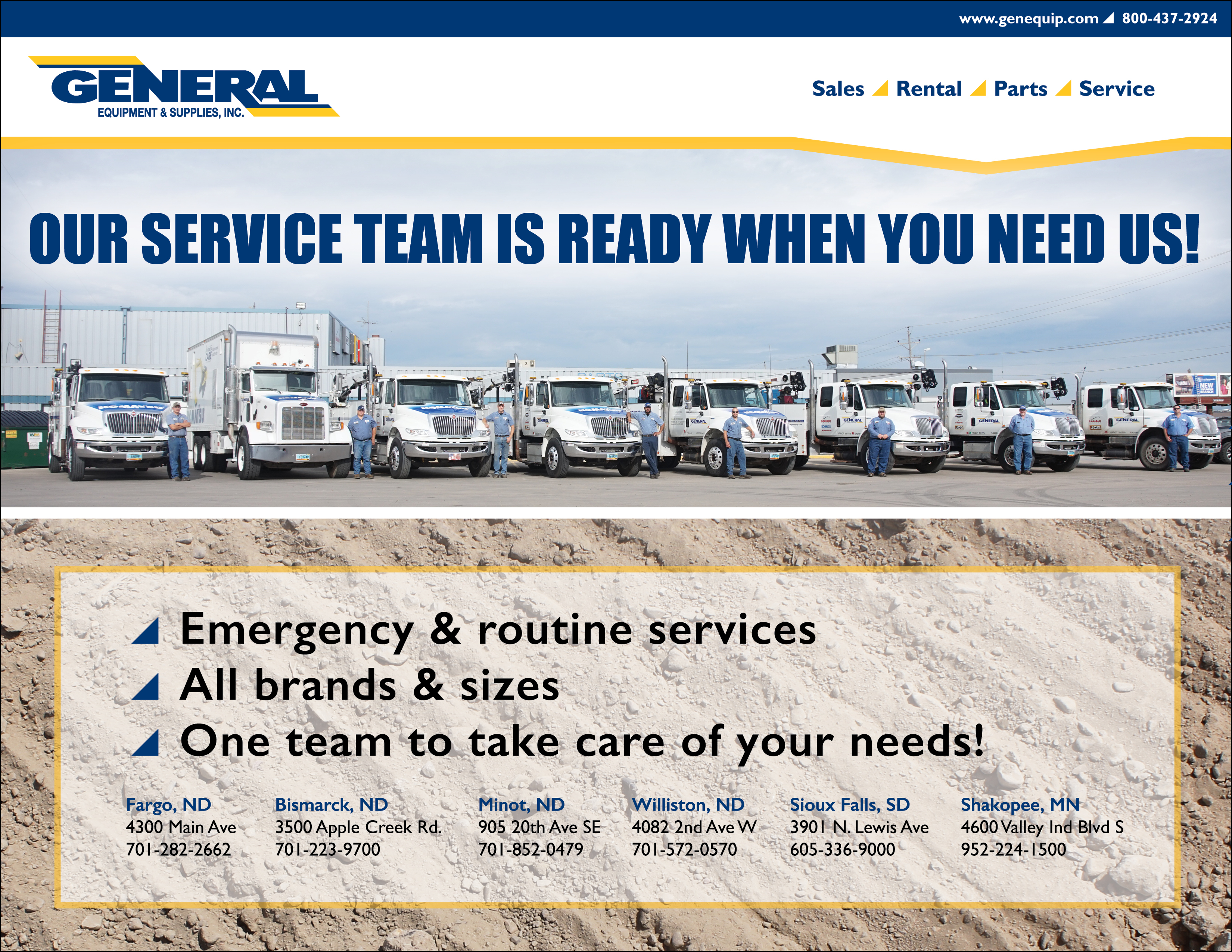 GES Service Truck Poster Email Blast